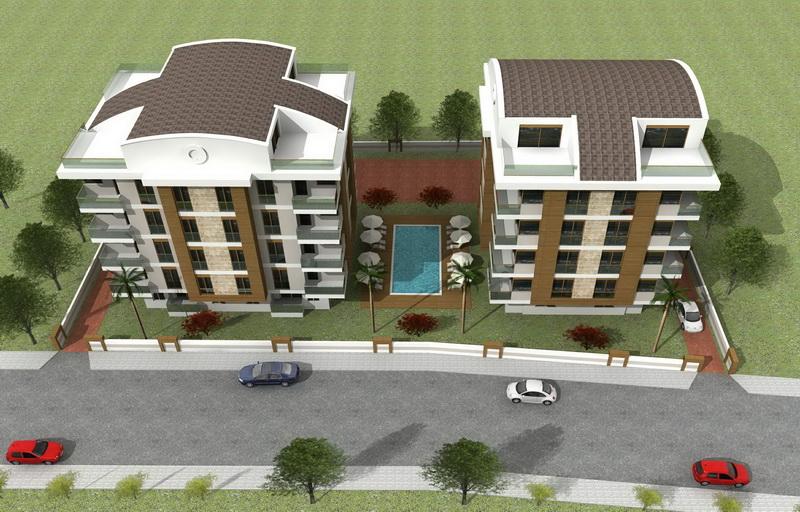 apartments with pool antalya 4