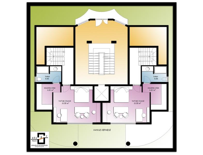 duplex sea view apartments in alanya 9