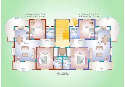 seaview apartments alanya 9