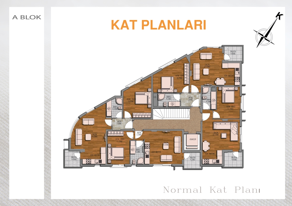 apartments in antalya konyaalti with view 17