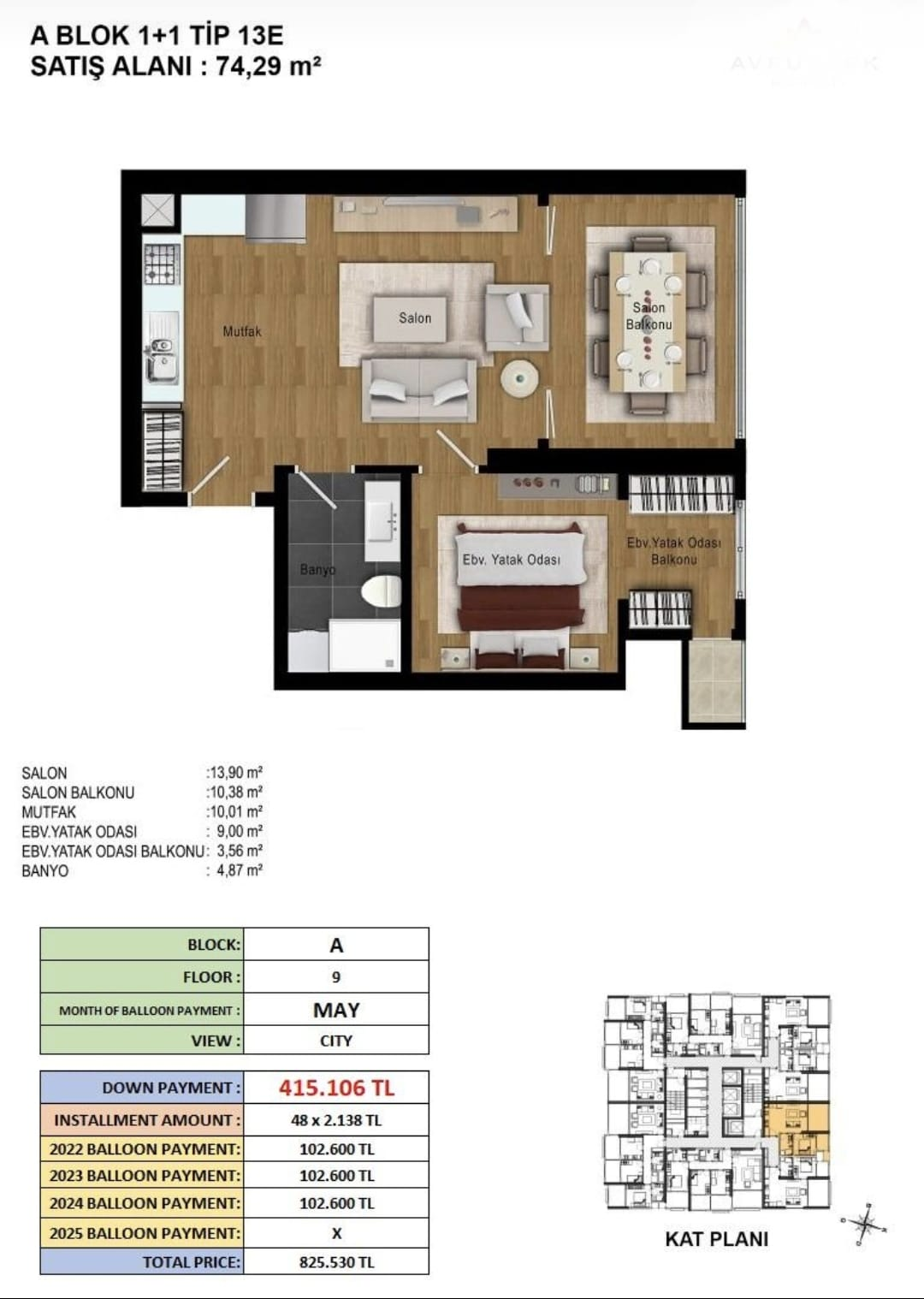 Apartments for sale in Bahcesehir in Istanbul 13
